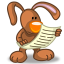 Reading rabbit icon by Flameia Design